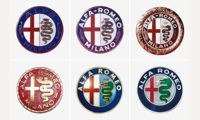 Evolução logo Alfa Romeo