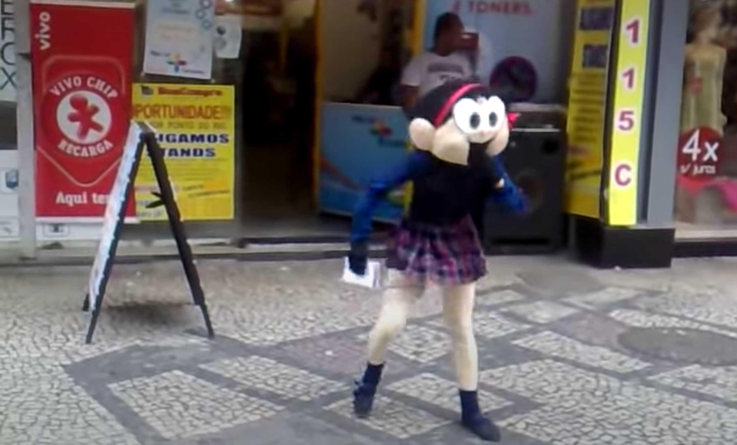 Magali dançante centro do Rio