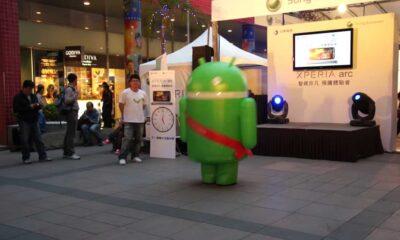android Google dançarino para promover o Sony xperia