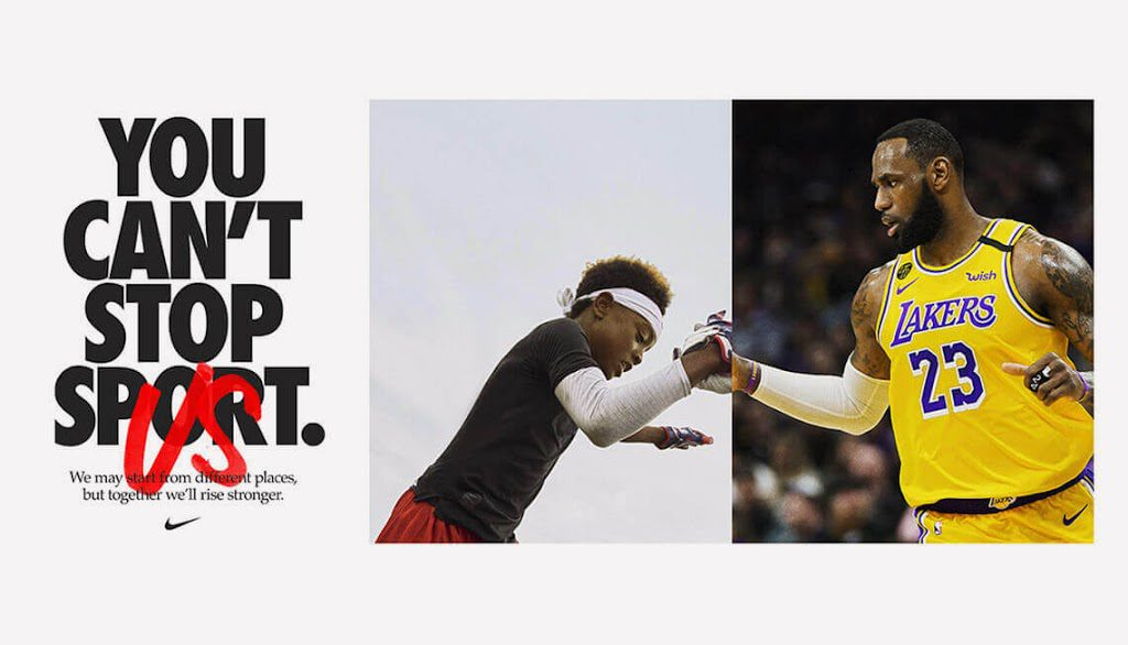 video campanha Nike You can't stop
