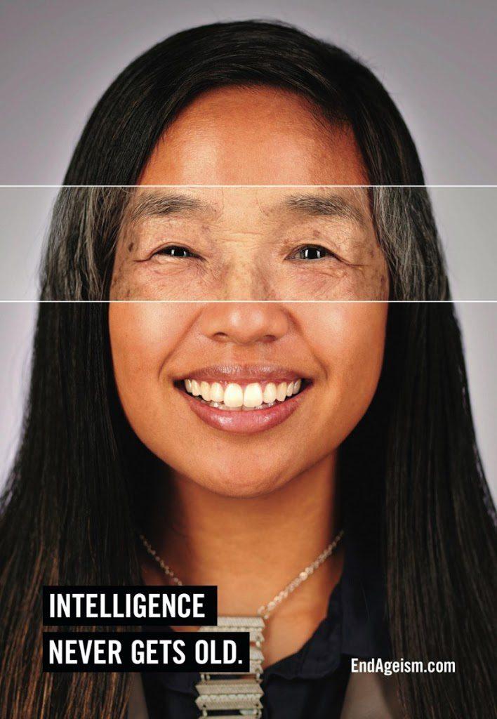 campanha End Ageism mulher