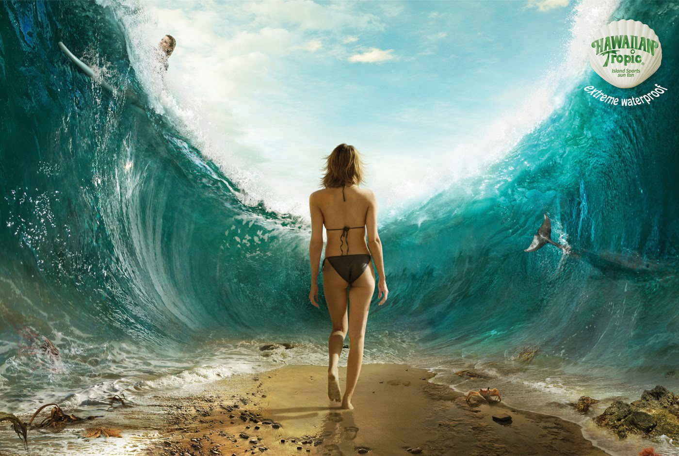 anúncio Extreme Waterproof da Hawaiian Tropic