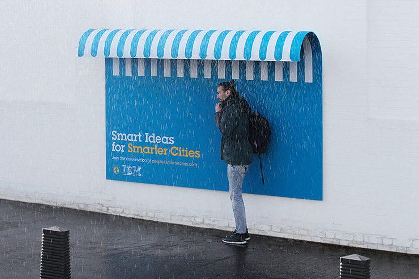 anuncio IBM abrigo smart cities