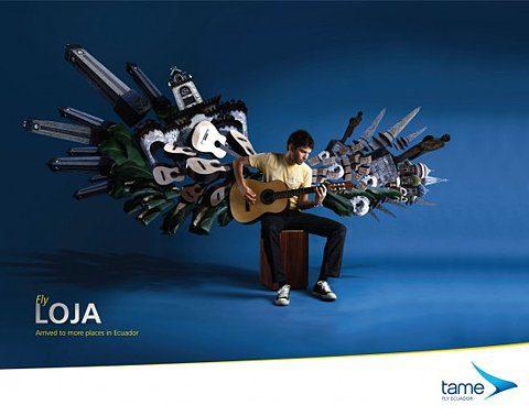 anúncio Tame Equador Airlines
