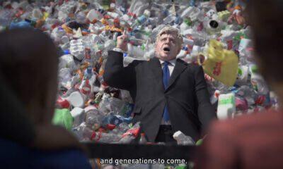 Wasteminster, campanha da Greenpeace com Boris Johnson