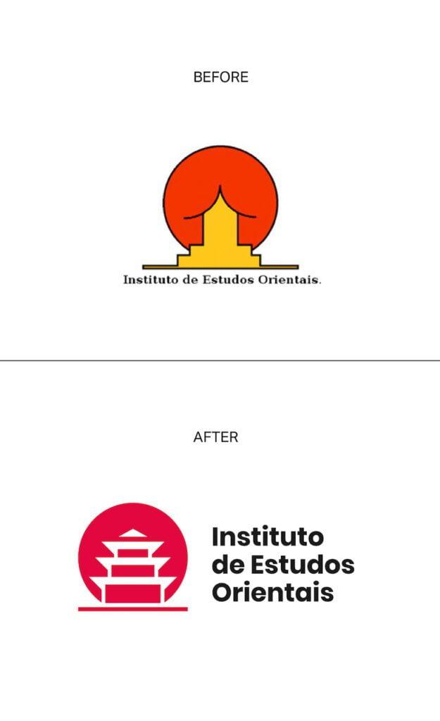 Redesign da logo Instituto de Estudos Orientais - Universidade de Santa Catarina