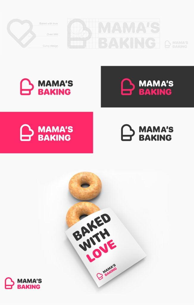Redesign da logo Mama's Baking