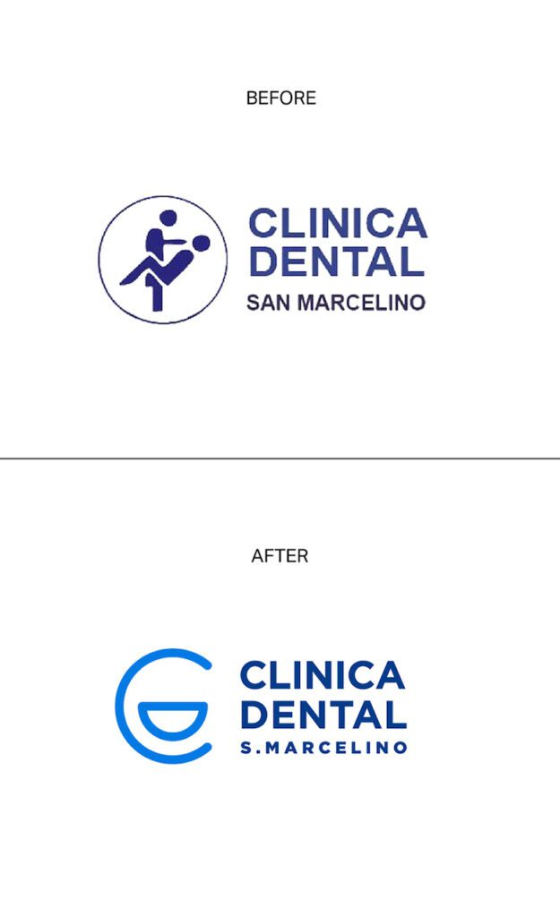 Redesign da logo Clinica Dental San Marcelino