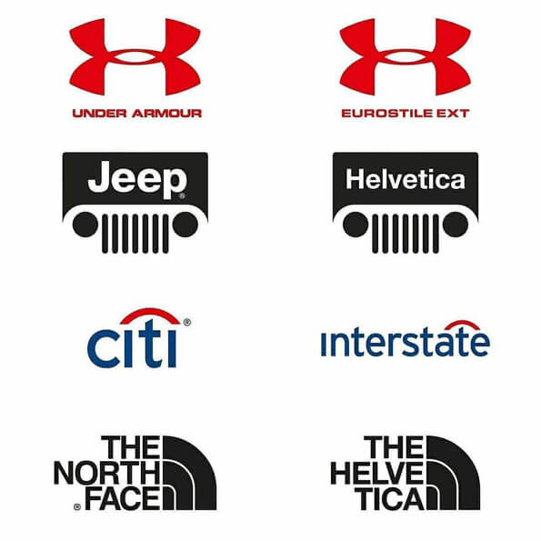 Fontes logos under armour, jeep, citi, the north face