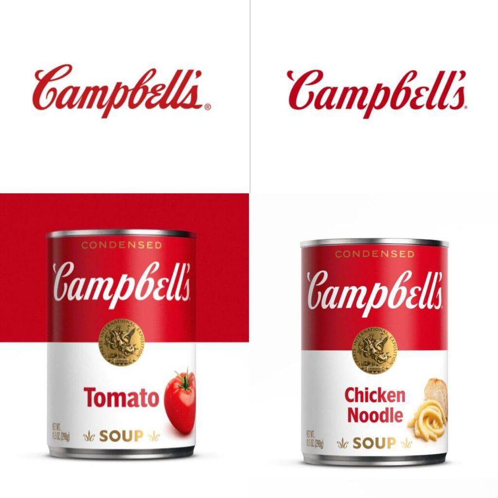 redesign logotipo marca sopa Campbells