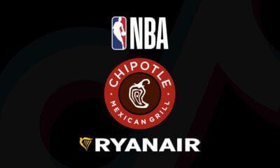 logo NBA, Rynair, Chipole no TikTok