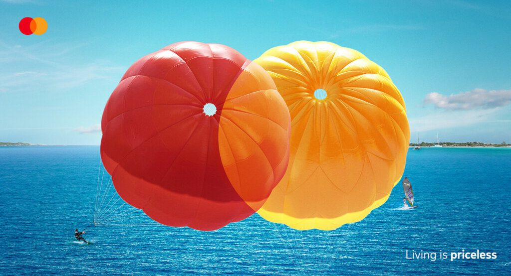 experiência paraquedas, mastercard